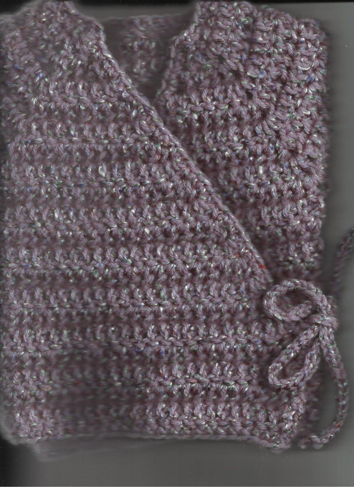 Crochet Baby Kimono Wrap Pattern : Treasures Made From Yarn: Baby Kimono Wrap