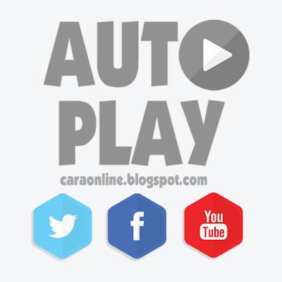 cara matikan video otomatis autoplay facebook twitter youtube