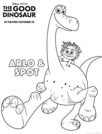 good dinosaur coloring