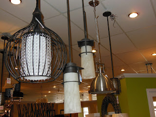 Mio's has a large selection of lighting fixtures in our showroom.