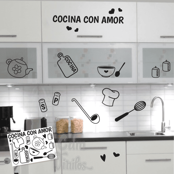 Vinilos decorativos para pared cdm vinilos decorativos - Vinilo de cocina ...