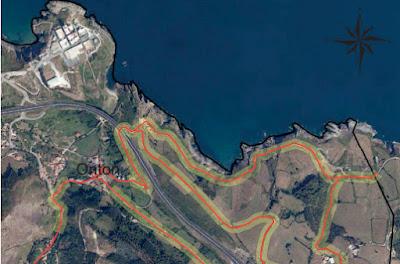 El BOC incluye dibujados todos los tramos del Camino del Norte así como sus zonas de protección.