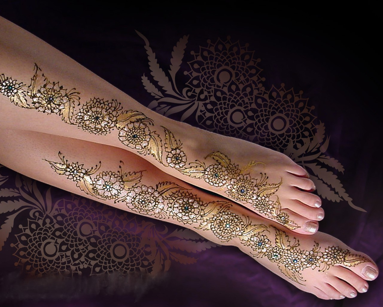 Mehndi Ankle : Tattoo today s mehndi design