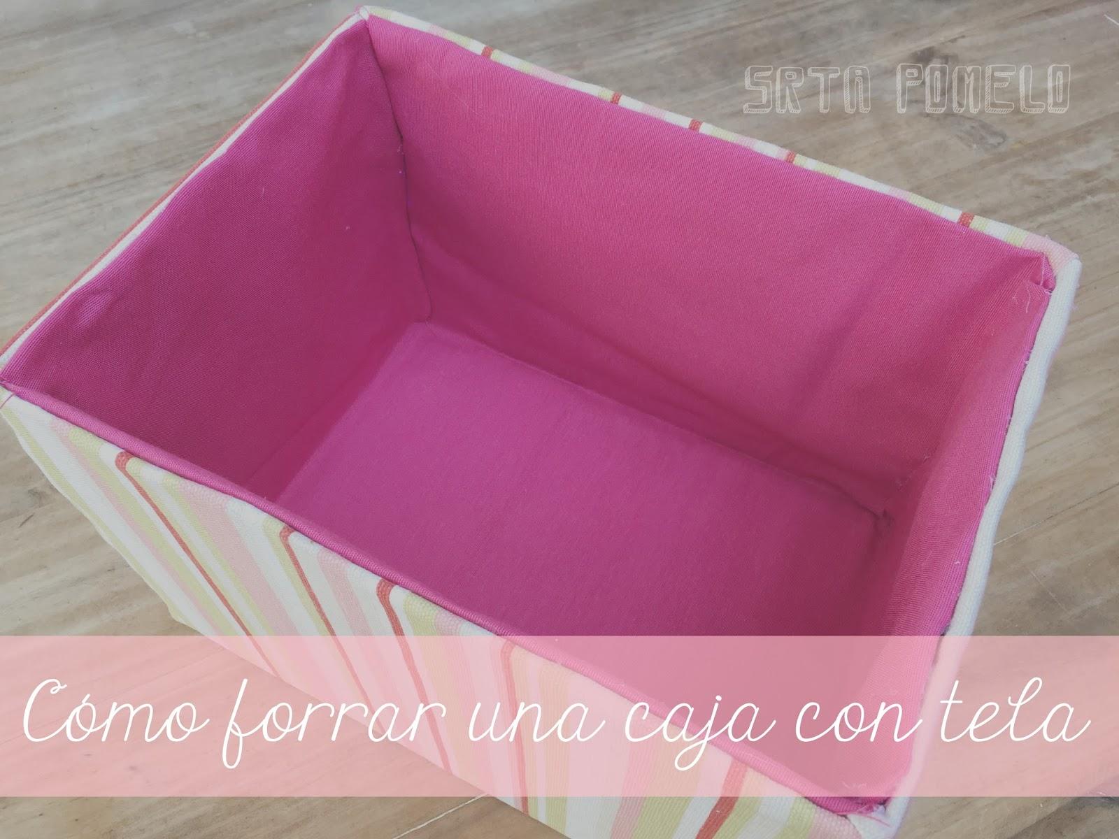 Srta pomelo reciclaje c mo forrar una caja con tela - Como forrar un armario con tela ...