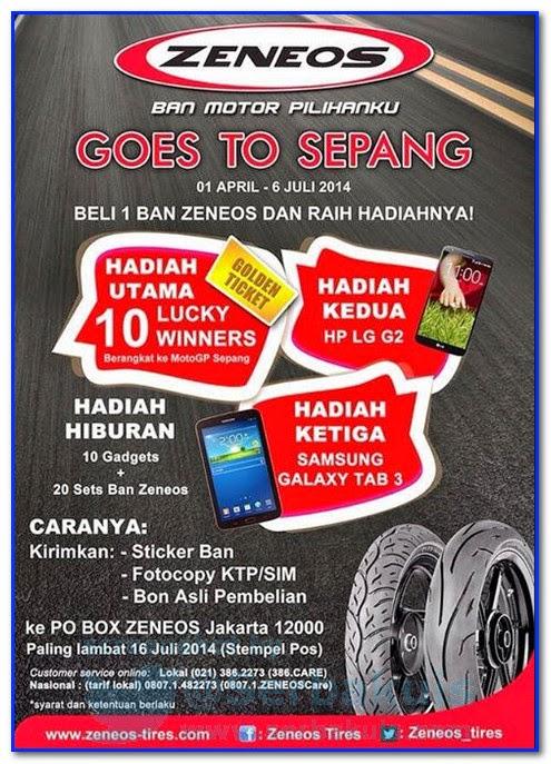 Promo Berhadiah 10 Tiket GRATIS Moto GP Sepang dan Gadget kece!