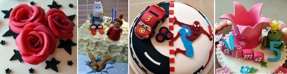 Några tårtor som jag gjort...