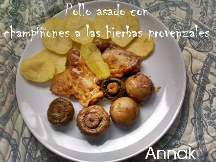 Recetas y trucos de cocina pollo asado con champi ones a las hierbas provenzales - Pollo asado a las finas hierbas ...