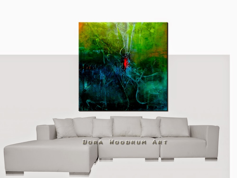 "Abstract Painting ""Inspiration 2"" by Dora Woodrum"