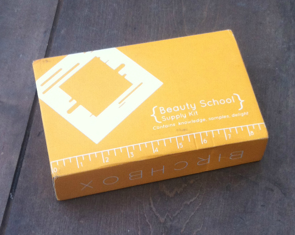 Birchbox Review August 2012 - Beauty School Themed Monthlty Subscription Box!