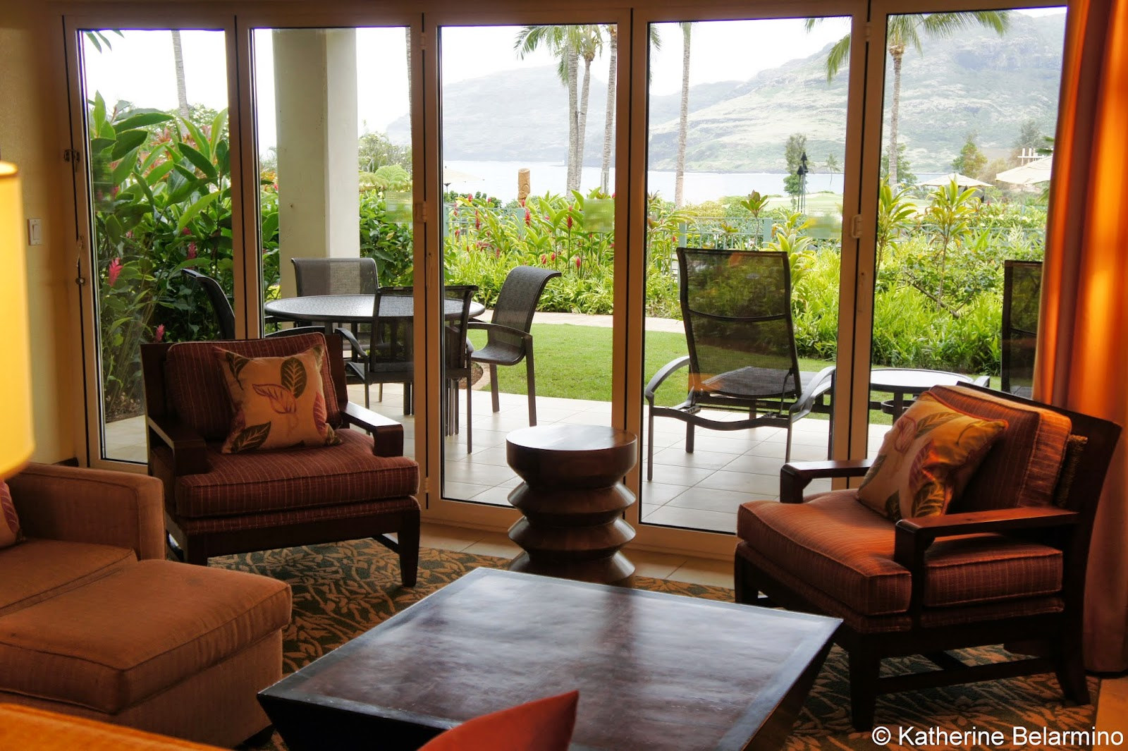 Marriotts Kauai Lagoons Living Room View Hawaii