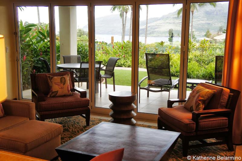 Marriott's Kauai Lagoons Living Room View Hawaii
