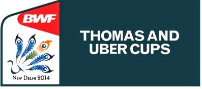 Jadwal Lengkap Thomas Uber Cup 2014