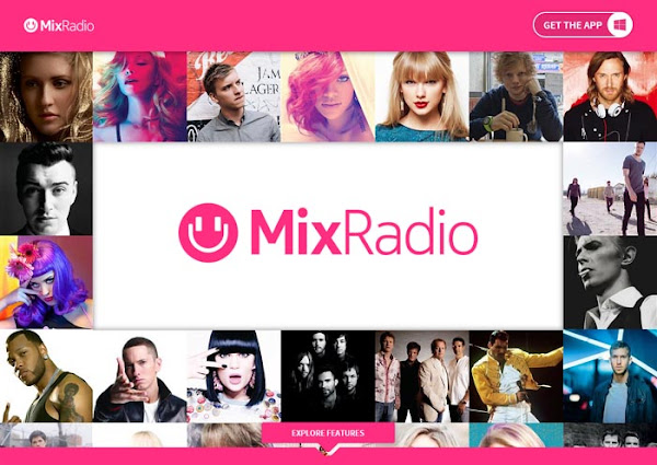 The brand new MixRadio website