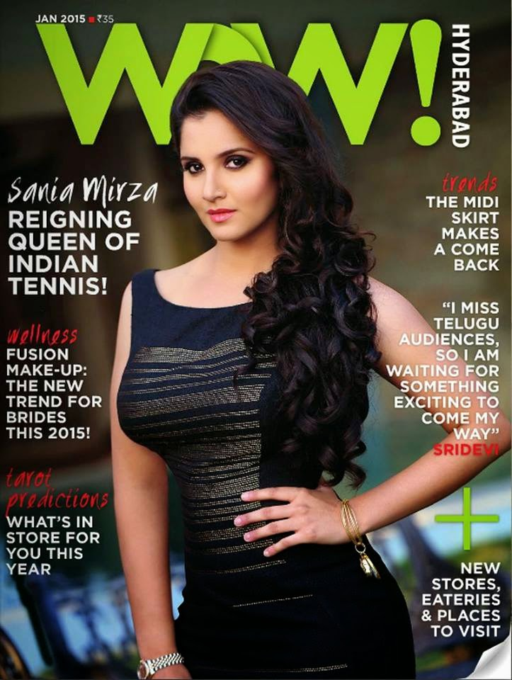 Sania Mirza on The Cover of WOW Magazine India January 2015