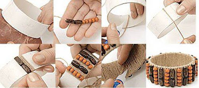 reciclagem -  pulseira cano de pvc