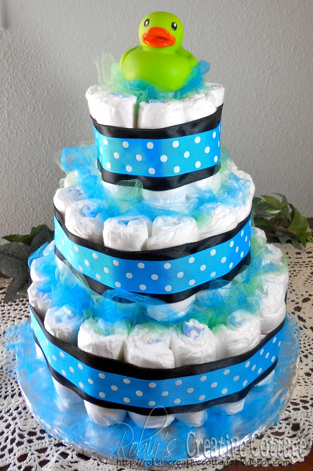 robin 39 s creative cottage baby shower diaper cake