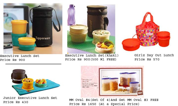 Shop Online for Tupperware Kitchenware Tupperware offers a wide array of bowls, containers, lunch boxes, spice containers, water bottles, ice-trays, tumblers, pitchers, dinner sets, and serving plates. The Tupperware products are made of high-quality, non-toxic plastic and are extremely sturdy. Storing food after a party at home is no longer.