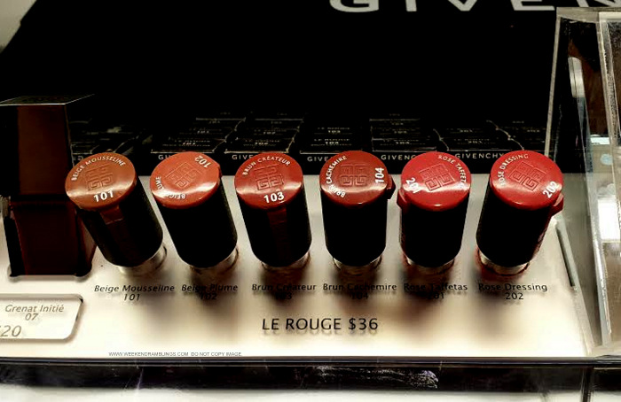 Givenchy Le Rouge Lipsticks Swatches 101 Beige Mousseline 102 Beige Plume 103 Brun Createur 104 Brun Cachemire 201 Rose Taffetas 202 Rose Dressing Indian Beauty Makeup Blog
