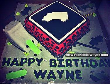 fotos de la tarta de cumpleaños de lil wayne
