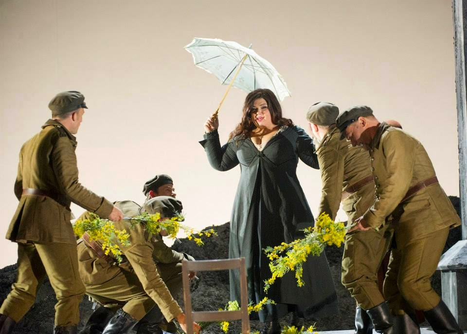 Leah Crocetto in act two of Verdi's Otello at English National Opera - photo Alastair Muir