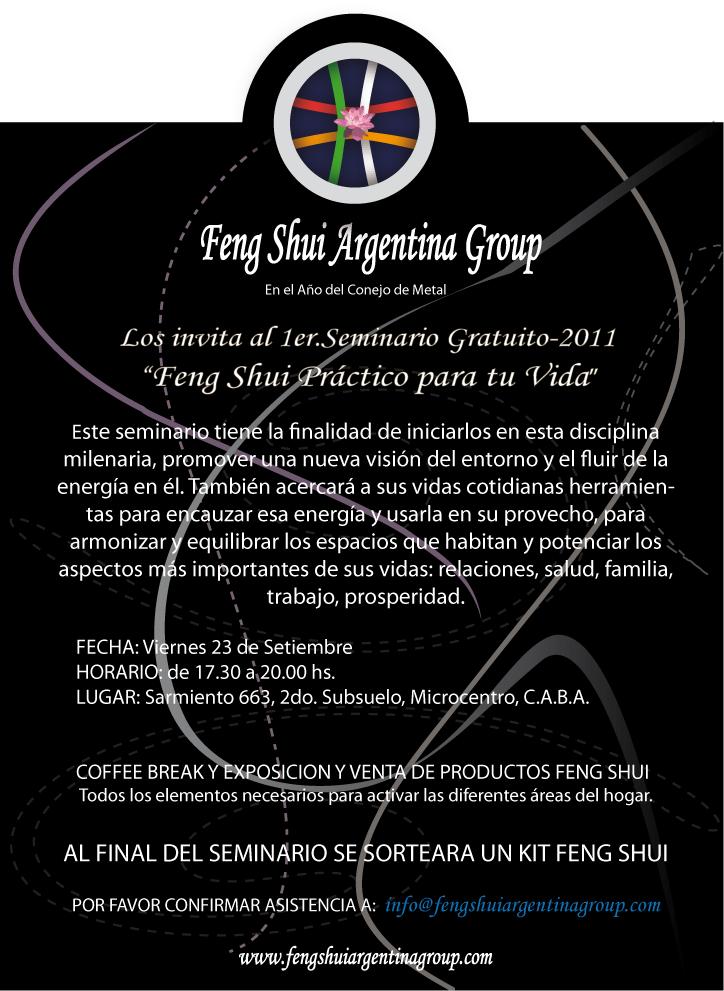 Feng shui argentina group seminarios realizados for Feng shui para todos