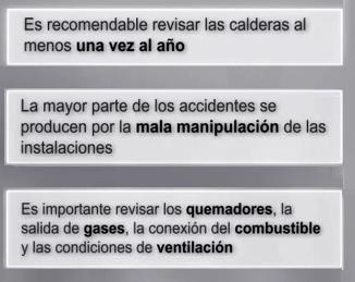 conaif recomendaciones calderas de gas