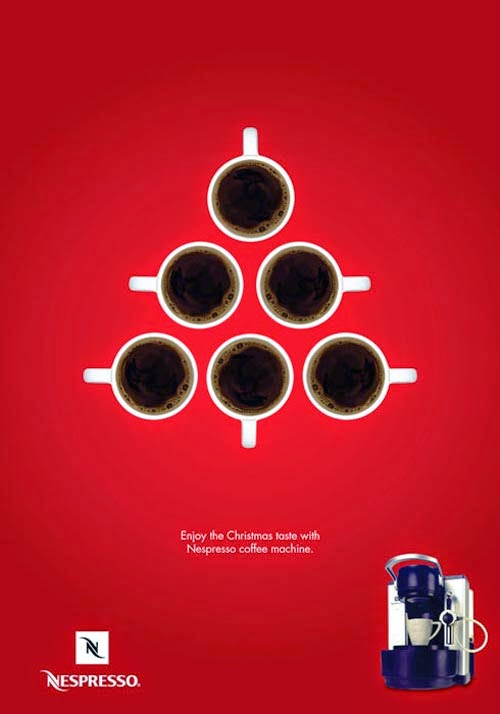 Publicidad creativa, navidad, Nespresso