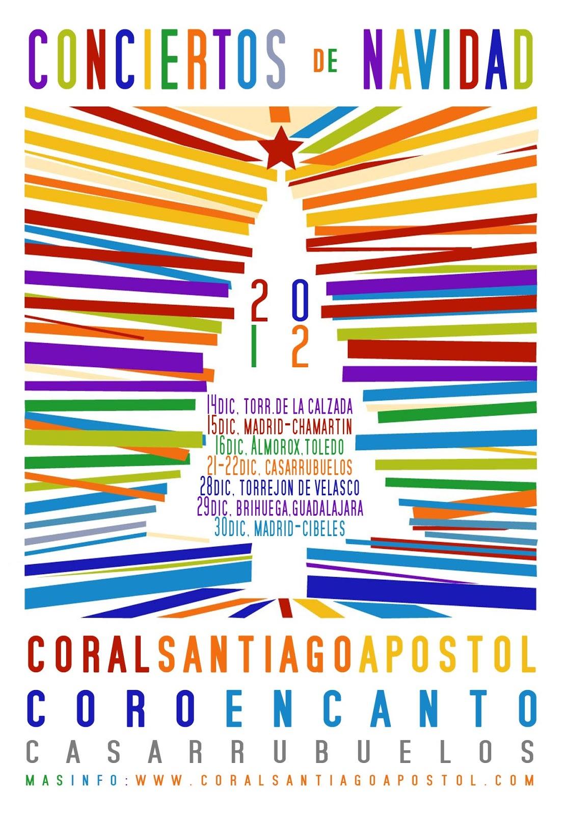 Calendario Conciertos Navidad 2012 Coral Santiago Apostol Coro Encanto Casarrubuelos