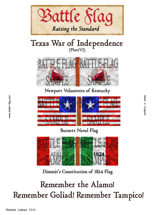Battle flags of the texas war of independence