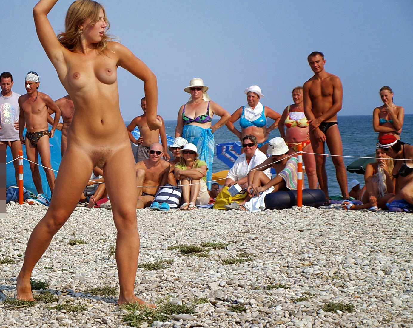 Nude beach junior beauty contest her