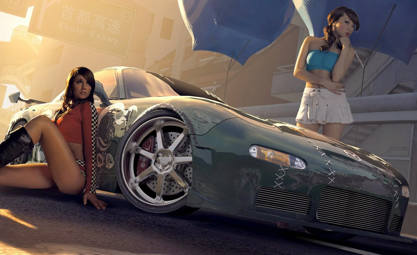 need for speed wallpaper featuring hot girls