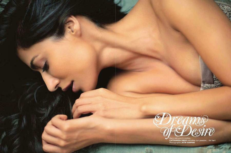 Chitrangada Singh strapless dress in Maxim Magazine 2011