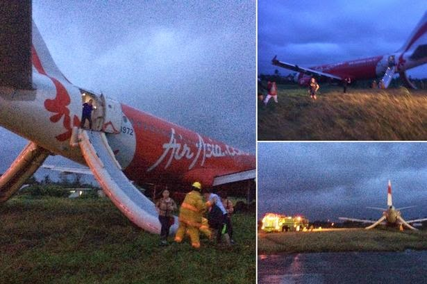 Air Asia Zest Overshoots Runway at Kalibo International Airport