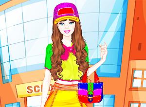 Estudiante colorida