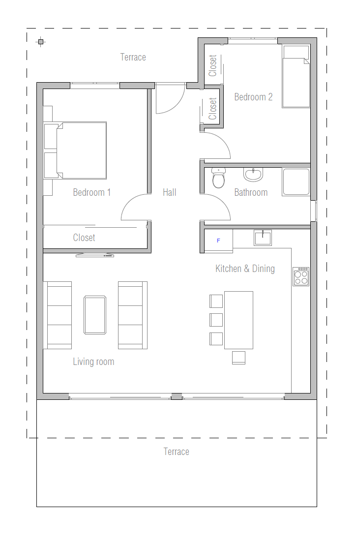 Affordable home plans small affordable home plan ch265 for Affordable floor plans