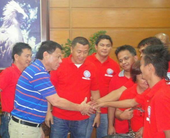 BARANGAY DALIAO OFFICIALS WITH THEN MAYOR AND NOW PRESIDENT RODRIGO DUTERTE
