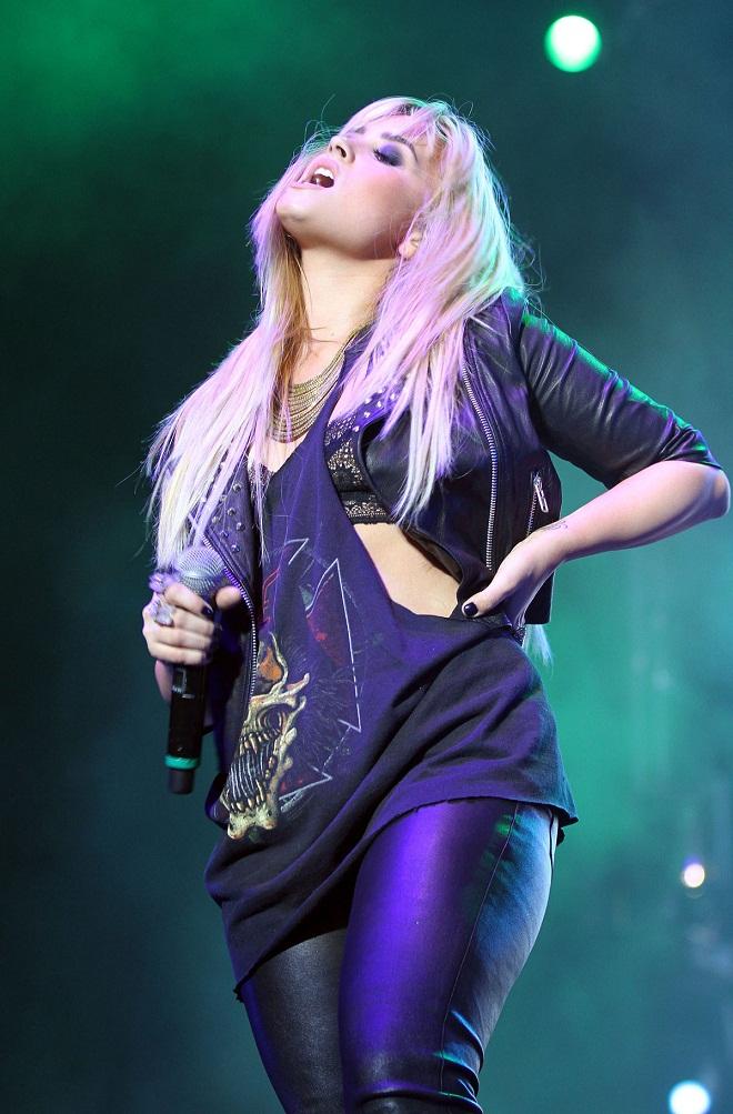 Demi Lovato Performs At The 2012 Z Festival In Sao Paulo