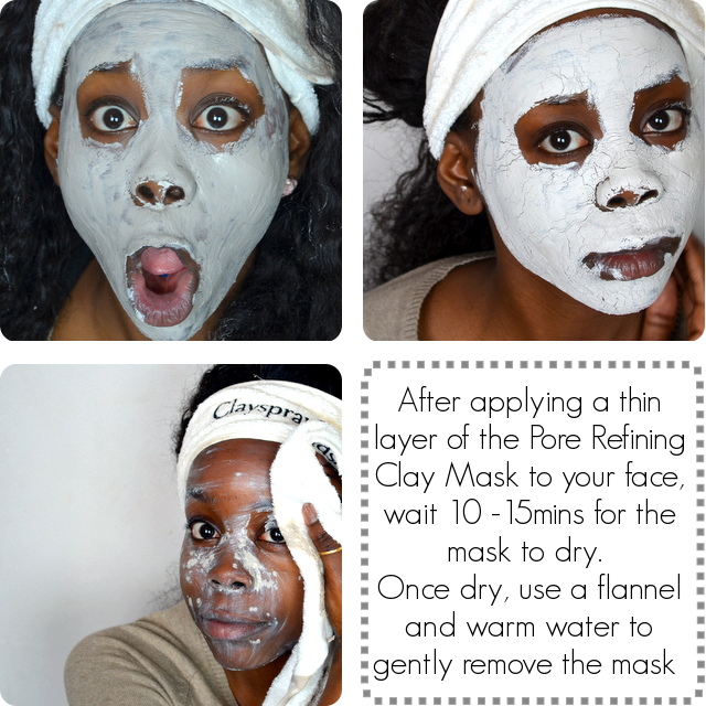 how to wear clay mask