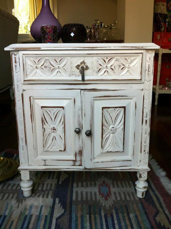 Vintouch muebles reciclados pintados a mano mueble - Muebles decapados en blanco ...