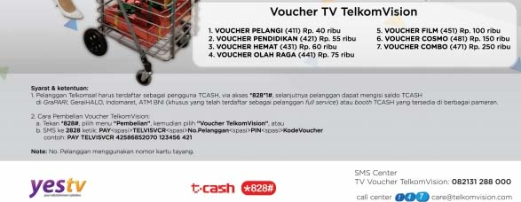 voucher Telkomvision YesTV prepaid