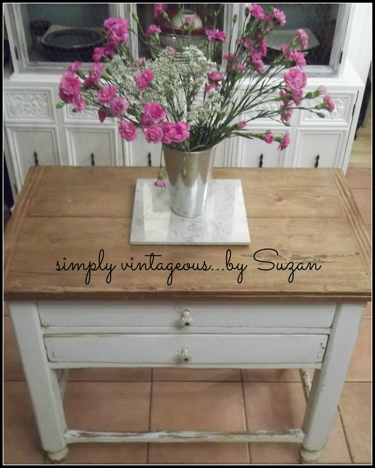 Farmhouse Table As Kitchen Island: Clever Chicks Blog Hop #50