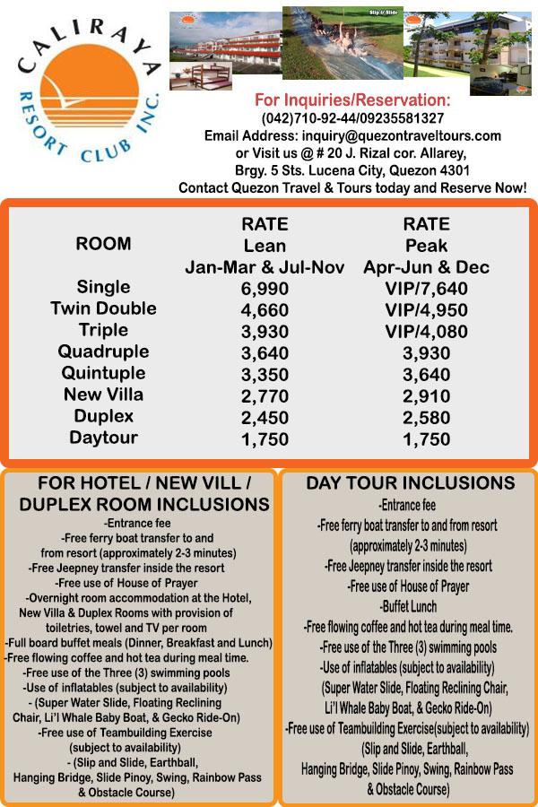 Quezon Travel And Tours Qtt Caliraya Resort Club Inc