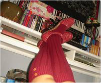 Autumn Equinox in Red Socks