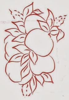desenho de maças para pintar