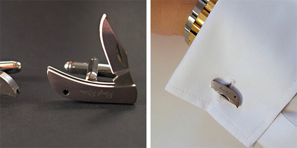 Cool and Unusual Knife Cufflinks