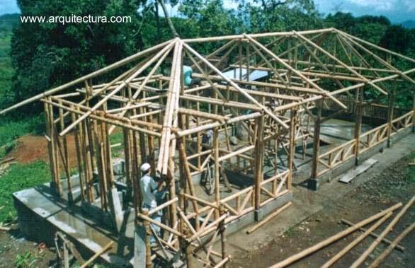 Arquitectura de casas casas hechas de bamb guadua for Como se construye una casa