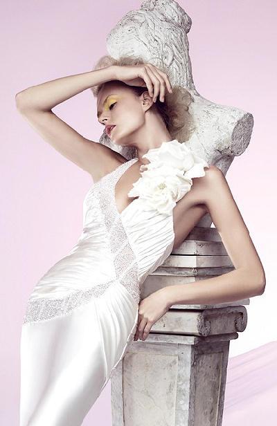 Mermaid V-neck Spaghetti Sweep Train Wedding Dress Bridal Gown