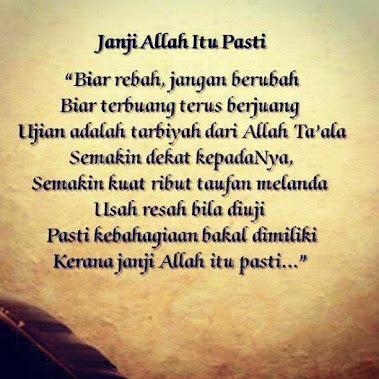 janji ALLAH itu pasti