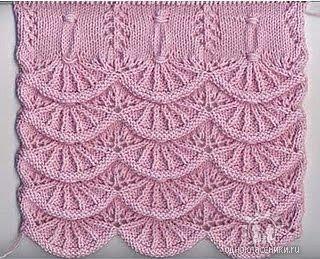 Алсацийские гребешки вязание спицами