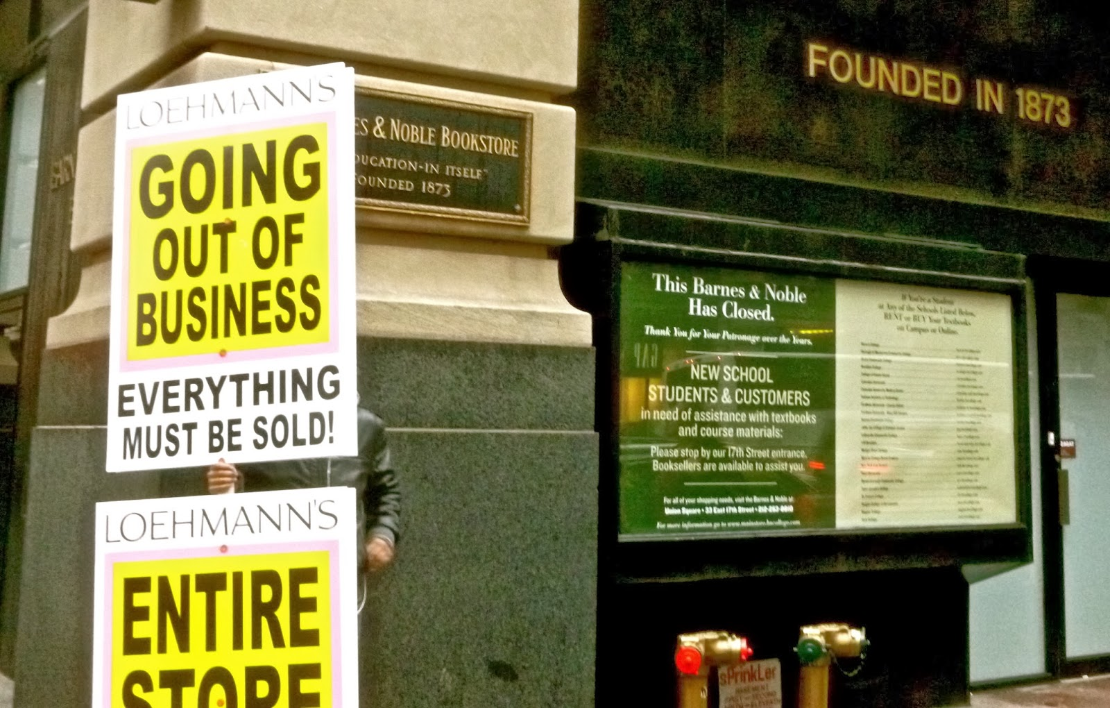Jeremiah's Vanishing New York: Barnes & Noble Flagship